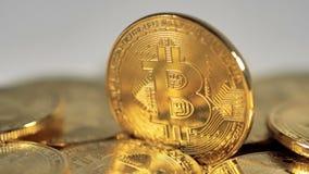 Extrem slut-UPS crypto valuta Bitcoin Främre sikt 4K lager videofilmer