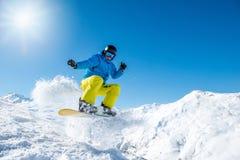 extrem snowboarder arkivbilder