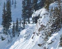 extrem snowboarding Fotografering för Bildbyråer