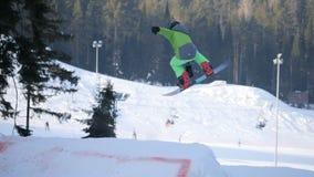 Extrem snowboarding och skidåkning lager videofilmer