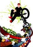 extrem sportvektor Royaltyfria Bilder