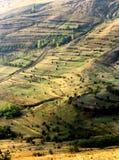 Extrem terrain som ändras för jordbruk arkivfoton