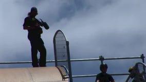 Extrem trägt Kalifornien zur Schau stock footage