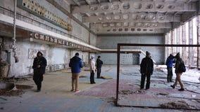 Extrem turism i Tjernobyl Royaltyfria Foton