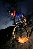 extrema cyklister Arkivfoto