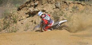 extrema motorcykelraces Arkivbild