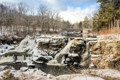 Extrema vintervillkor i Pocono berg arkivfoto