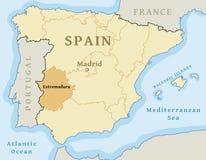 Map Of Spain Extremadura.Extremadura Map Stock Vector Illustration Of Autonomous 138748079