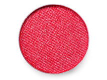Extremal close-up of red eye shadow Royalty Free Stock Photography