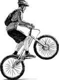 Extremal cyklist Arkivbilder