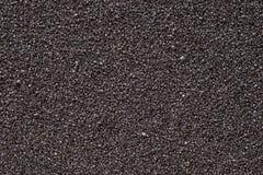 Extremal slut för svart sand upp royaltyfri bild