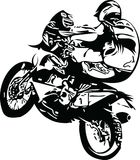 Extreme abstract motocross racer by motorcycle Stock Photography