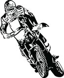 Extreme abstract motocross racer by motorcycle Stock Photo