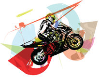 Extreme abstract motocross racer by motorcycle Stock Photos