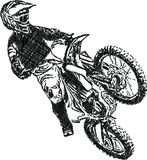 Extreme abstract motocross racer by motorcycle Stock Image