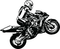 Extreme abstract motocross racer by motorcycle Royalty Free Stock Image
