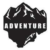 Extreme Adventure Climbing Logo Black and White Royalty Free Stock Images