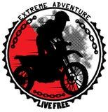 Extreme adventure. Emblem vector format Stock Photos