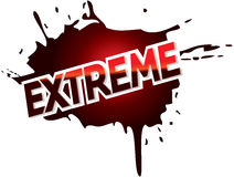Extreme adventure mud logo graphic text Royalty Free Stock Photos