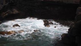 Extreme atlantic waves crushing coast stock video