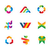 Extreme Banderfolgslogo-Symbolikone der Innovation und der Kreativität menschliche Lizenzfreie Stockbilder