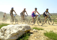 Extreme-Bardenas bike ride Stock Photography