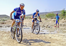 Extreme-Bardenas bike ride Stock Images