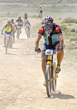 Extreme-Bardenas bike ride Stock Photo