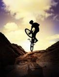 Extreme bergfiets Stock Foto