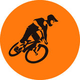 Extreme bicycle mtb dirt racer royalty free illustration