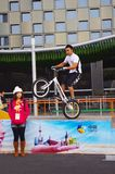 Extreme bicycle in Shanghai Expo2010 China Stock Images