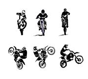 Extreme bike big vector set 6x, motocross. Extreme motorbike big vector set 6etc, motocross dirtbike enduro offroad motorcycles stock illustration