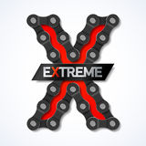 Extreme. Bike chain illustration Stock Images