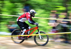 Extreme bike. Gabrovo , Bulgaria MAY 17, 2015.  Mountain Bike sports event dedicated to the Day of the Gabrovo city Stock Image