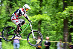 Extreme bike. Gabrovo , Bulgaria MAY 17, 2015.  Mountain Bike sports event dedicated to the Day of the Gabrovo city Royalty Free Stock Photos