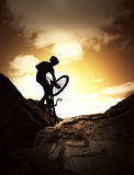 Extreme bike sport Stock Photography