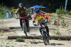 Extreme BikeCross competition Royalty Free Stock Images