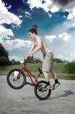 Extreme BMX Fahrt Lizenzfreies Stockbild
