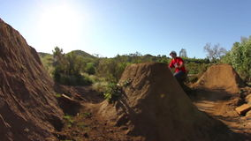 Extreme BMX 360 Jump stock footage