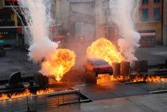 Extreme Bremsungsshow Lizenzfreies Stockfoto