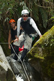Extreme Canyoning Sport Stock Photography