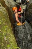 Extreme Canyoning Sport Stock Photo