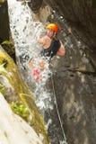 Extreme Canyoning Sport Stock Images