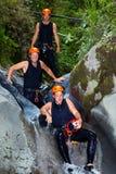Extreme Canyoning Sport Royalty Free Stock Image