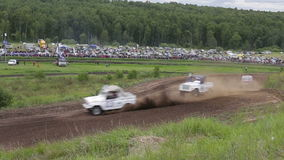 Extreme car off-road racing stock video