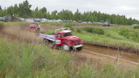 Extreme car off-road racing stock video footage