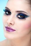 Extreme, casual makeup. Fashion model Stock Photo