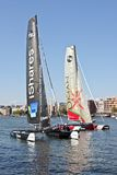 Extreme catamaran final world cup race Royalty Free Stock Photos