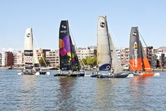 Extreme catamaran final world cup race Stock Images