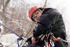 Extreme climber Stock Photography